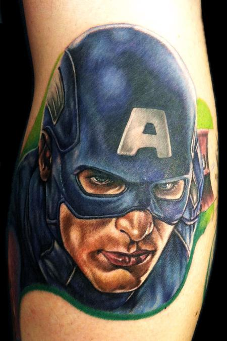 Tattoos - Captain America - 74603